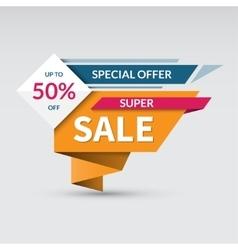 Super sale banner Special offer label vector image