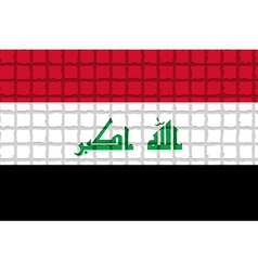 The mosaic flag of Iraq vector image vector image