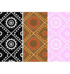 Variations square seamless background vector image vector image
