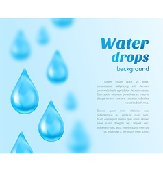 Water drops background with place for text vector image