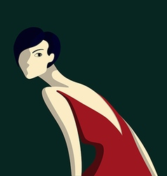 Beautiful elegance woman vector