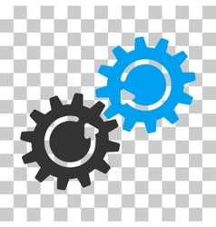 Gear mechanism rotation icon vector