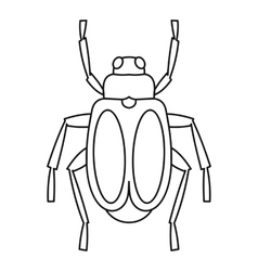 Beetle bug icon outline style vector