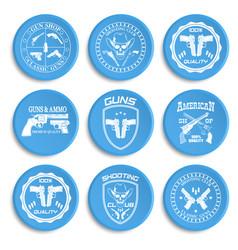 classic guns emblem with pistols vector image