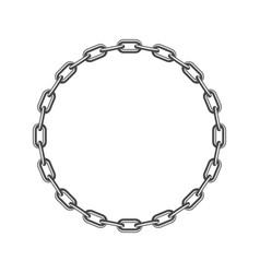 black round chain vector image