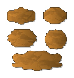 Collection of various crumpled pieces of paper vector image