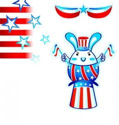 Election rabbit vector