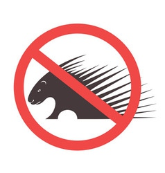 Stop porcupine sign vector