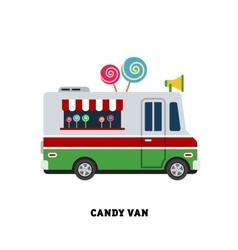 Trailer fast food isolated vector