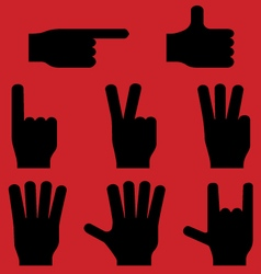 Hand gestures pictograms eps8 vector