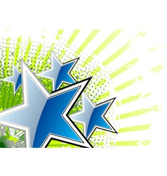 blue stars on the green background vector image