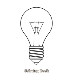 Lightbulb cartoon coloring book vector