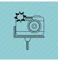 camera icon design vector image