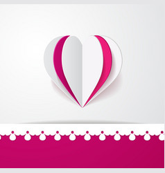 3d background with a heart vector image