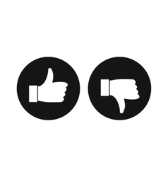Thumbs up and down icon simple style vector image