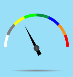 Indicator color spectrum barometer full vector
