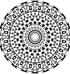 Tribal round ornament with decorative elements vector