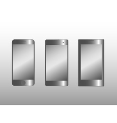 Three smart phone models vector