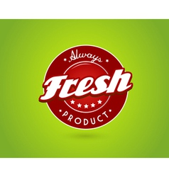 Green board with fresh product sign vector