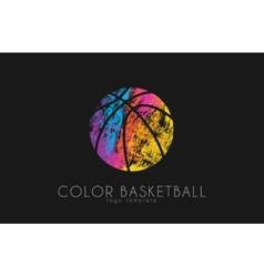 Basketball ball logo Basketball sport Ball logo vector image vector image