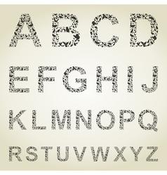 Bird the alphabet vector image vector image