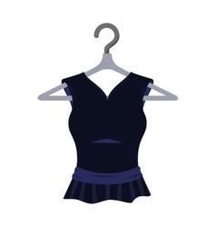 black dress fashion clothing vector image
