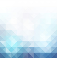 Blue grid mosaic background vector