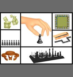 Board games set vector