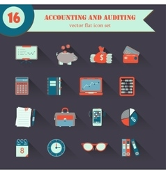 Bookkeeping flat icons vector image
