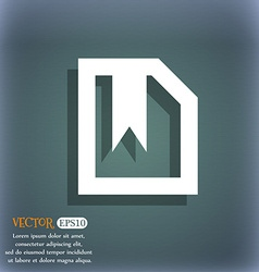 bookmark icon symbol on the blue-green abstract vector image