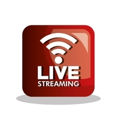 button icon live streaming design graphic vector image vector image