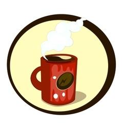 Cartoon mug of coffee vector image vector image