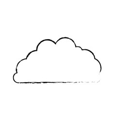 cloud fluffy blurred monochrome in white vector image vector image