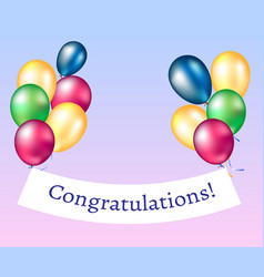 Congratulations banner with balloons vector