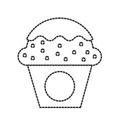 dessert food cup cake cream sweet bakery vector image