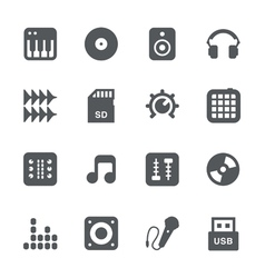 Dj equipment icon set vector