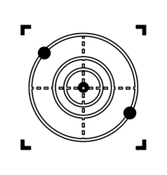 drone target isolated icon vector image