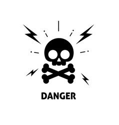 Electrical hazard sign flat vector