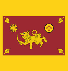 Flag of southern province of sri lanka vector