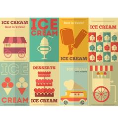 ice cream postres vector image vector image