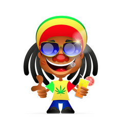 Jamaican guy vector
