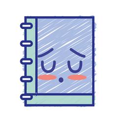 Kawaii cute tender notebook tool vector
