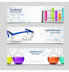 Laboratory science banners set vector