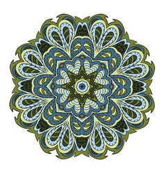 Mandala flower zentangl doodle drawing round vector