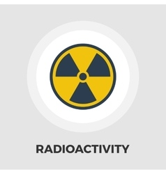 Radioactivity icon flat vector
