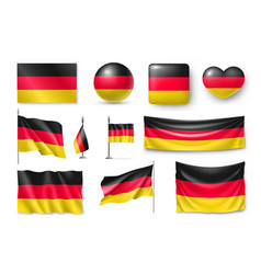 set germany flags banners banners symbols flat vector image vector image