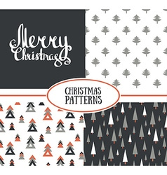 Set of three seamless patterns with stylish vector image vector image