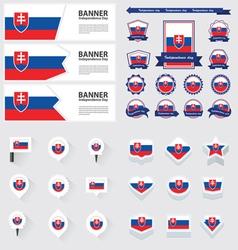 SET Slovakia vector image vector image