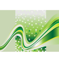 Stripes green tint vector image vector image