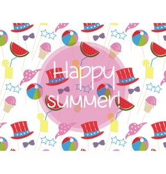 Summer time holidays pattern vector